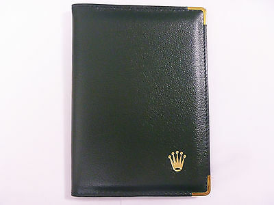 ROLEX Leather Passport Card Holder Case Wallet: Code 0068.08.05 Great Condition