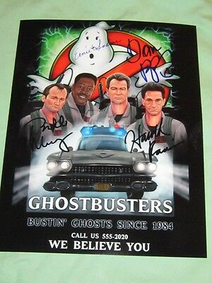 Ghost Busters Cast Bill Murray Dan Aykroyd Photo Authentic Signed w/COA