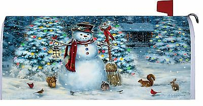 Christmas Tree Snowman Squirrels Bunnies Birds Magnetic Mailbox Cover