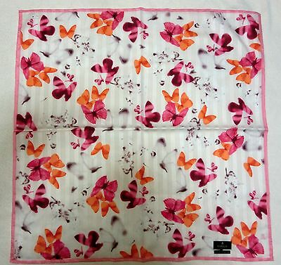 "LANVIN butterfuly handkerchief cotton 100%  58X58cm(22.84"") Japan license"