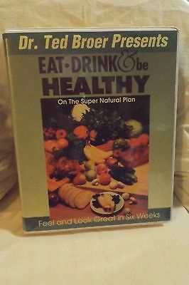 Eat, Drink, and Be Healthy by Dr. Ted Broer, Books & Cassette Tapes Set