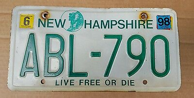 License Plate, New Hampshire, 1996, Graphics: Old Man of the Mountain, ABL-790