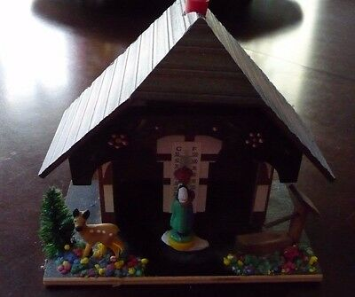Vintage Gebrauchsanweisung German Weather House W/ Thermometer Made In Germany