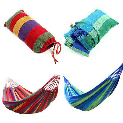 Portable Parachute Nylon Fabric Swing Hanging Hammock Outdoor Camping Travel #