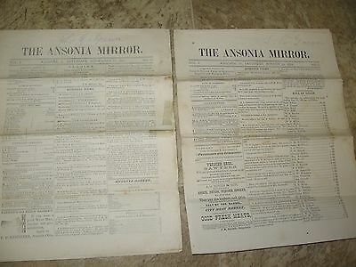 2- 1881 Issues of The Ansonia(OHIO) Mirror Paper- Vol.1 August 13th & Nov. 12th