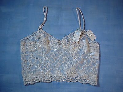 Vintage Valentino 77280 Curly Lace Pattern Camisole Size 34 in Beige