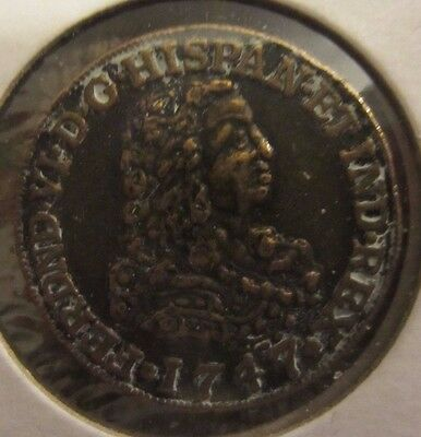 Spanish Gold Doubloon 1747Token Coin