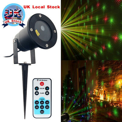 Romantic Laser Projector Light 20 Patterns LED Star Xmas Garden Lawn Landscape