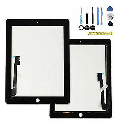 Black for New iPad3 iPad4 Glass Digitizer Touch Screen Replacement #