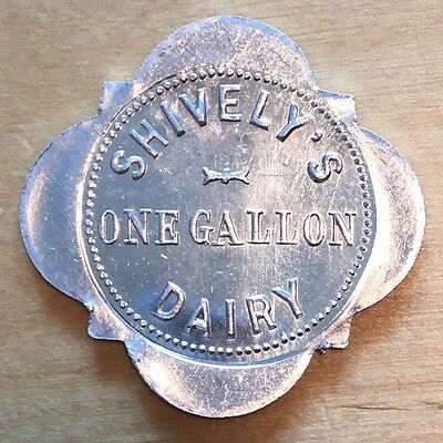 Shively's Dairy Token, One Gallon