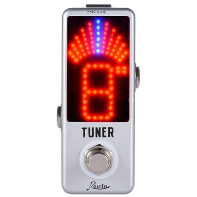 Rowin Chromatic Tuner Pedal Effect LED Display True Bypass For Electric Acoustic