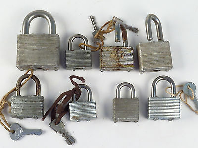 Antique VTG Master Pad Lock PadLock KEY Old Tool Hardware Lot