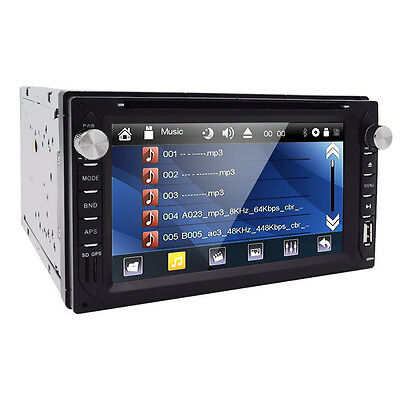 "Double 2Din 6.2"" In Dash Stereo Car DVD CD Player Bluetooth FM Radio iPod SD TV#"