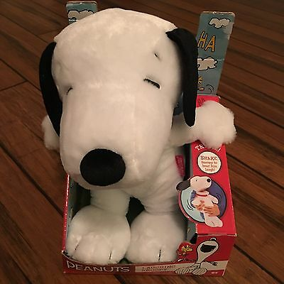 "Peanuts Laughing Snoopy Plush Toy 12"" NEW 1"