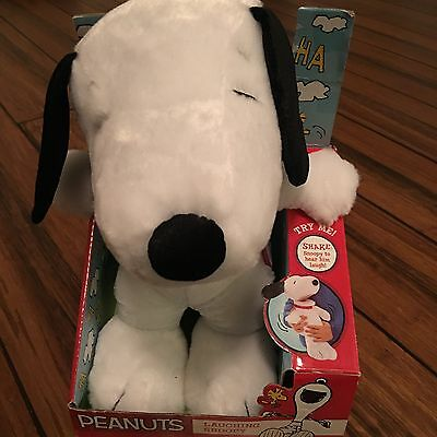 "Peanuts Laughing Snoopy Plush Toy 12"" NEW"