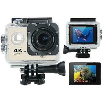 Tekcam F60R 4K WiFi Action Camera with Complete Accessory Pack + Remote (Black)