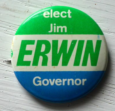 Vintage JIM ERWIN GOVERNOR Pin Elect Election Pin MAINE Gubernatorial Republican