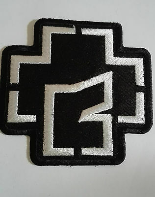 RAMMSTEIN White Embroidered Iron On Sew On Patch Heavy Rock Band no-449