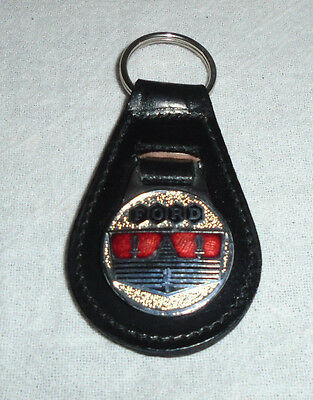 Vintage Ford Motor Company Leather Key Chain Ring Fob Unused