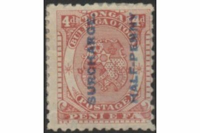 Tonga 1894 SG21 ½d on 4d Coat of Arms MH