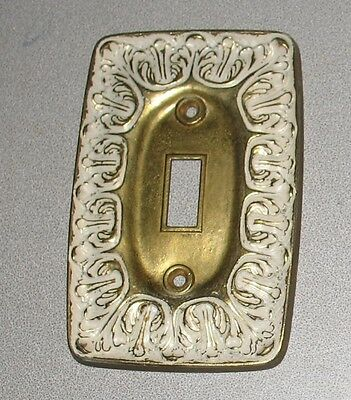 1 Vintage Art Nouveau Solid Brass Electrical Switch Wall Plate cover Shabby