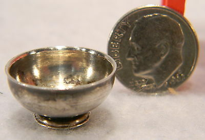 Miniature Sterling Silver Bowl Marked By Maker Cb Bw