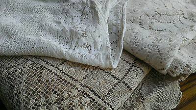 Lot Vintage Lace Tablecloths Cutters Fabric Crafts