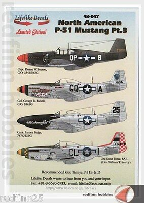Lifelike Decals North American P-51 Mustang Part 3 1/48 decals