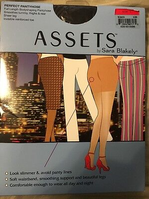 NWT, Assets Perfect Pantyhose, Black, Size 1