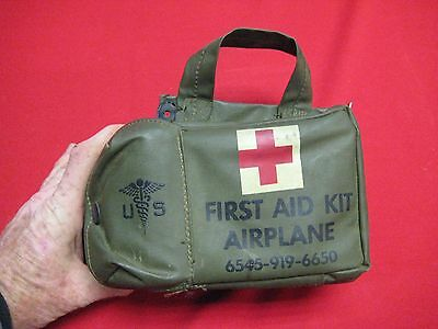 Vintage US Military Airplane / AirCraft First Aid Kit ~ 6545-919-6650