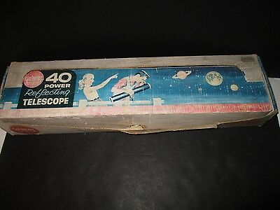 Vintage No 13203 GILBERT 40 Power ASTRONOMICAL REFLECTING TELESCOPE- BOXED