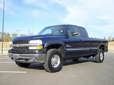2001 Chevrolet Silverado 2500 HD DURAMAX 4X4 A NEAT CLEAN STOCK WELL KEPT TRUCK A-SHARP-1-OWNER-6.6L-TURBO-DIESEL-4WD-SUPER-EXT-CAB-4-DOOR-AC-LOADED-AUTO-CRUISE