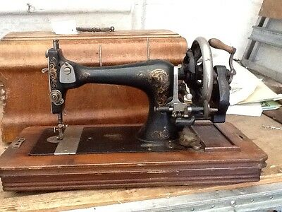 antique early vintage wincycle manufacturing co sewing machine