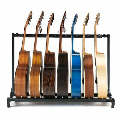 7 Way Multi Guitar Stand Foldable Acoustic Electric Electric Bass Guitar Rack UK