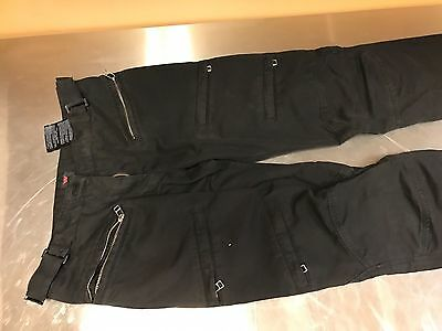 Dainese Yamato Evo Lady Women Textile Motorcycle Pants Black 40 with Protectors