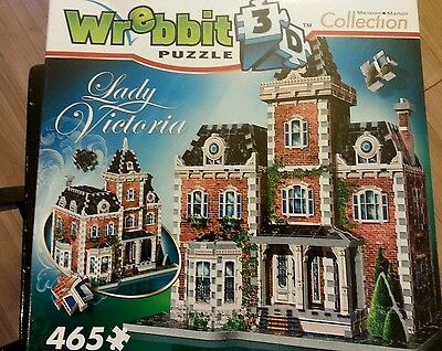 Wrebbit Puzz 3D Lady Victoria Mansion Factory Sealed 465 Pc