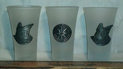 Princess Cruises Frosted Shot Glass Lot of 3 Cruise Ship Line