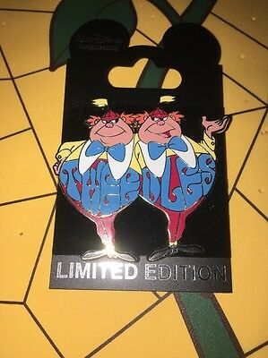 Disney Alice in Wonderland Tweedle Wdi Tweedles LE Pin