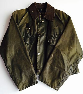 BARBOUR SPEY FLY FISHING JACKET A130 Waxed Cotton M Green