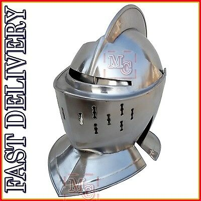 Knight Armor Costume Adult Mens Medieval Reenactment Halloween Fancy Dress hu#71