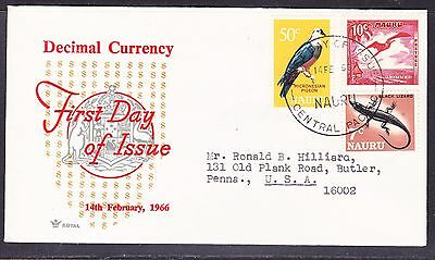 "Nauru 1966 - Decimal Currency - ""ROYAL"" 50c First Day Cover"