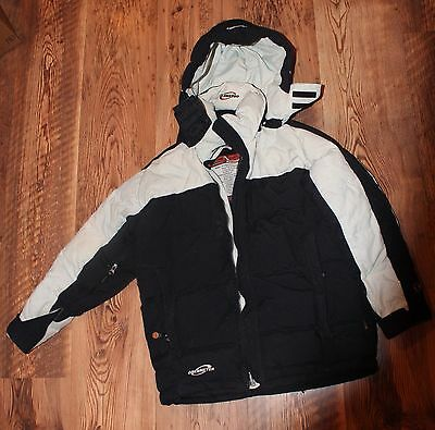 Youth size 10-12 Obermeyer black parka, down winter coat, extreme cold