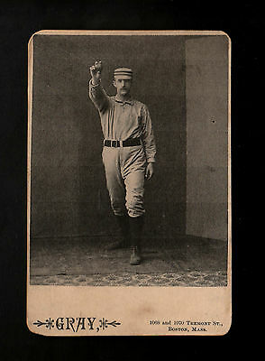 """GRAY 1880/90s EXCITING ( BASEBALL ) TYPE CARD -- """" PLEASE READ LISTING """""""