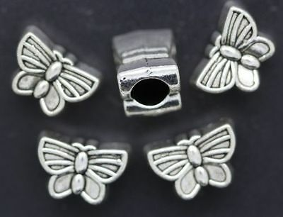 NEW 10pcs beautiful butterfly European style charms big hole spacer beads 13x9mm