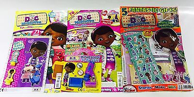 DOC McStuffins Magazine X3 Gift Issues - AMAZING FREE GIFTS! (NEW)
