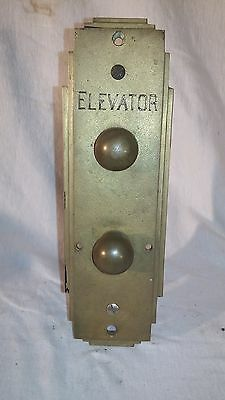 Bronze Elevator Buttons Plate Call Mechanism Assembly Antique Vintage Complete
