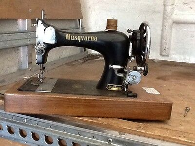 antique vintage husqvarna company of sweden sewing machine