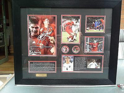 Liverpool & England soccer memorabilia signed by Steven Gerrard 101 of only 499,