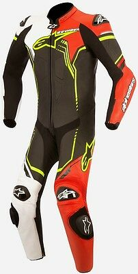 Alpinestars GP Plus Race Suit Motorcycle Suits Black/White/Red/Yellow 48