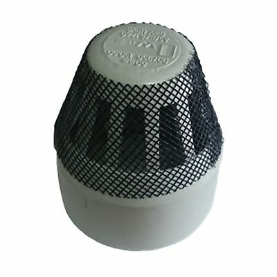 Holman PVC DWV INSECT PROOF VENT COWL 50mm Sewer & Vent Use, GREY *Aust Brand